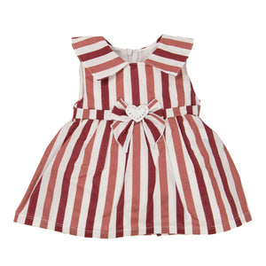 Red Striped Heart Bow Dress