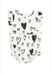 Hearts Ruffle Sunsuit