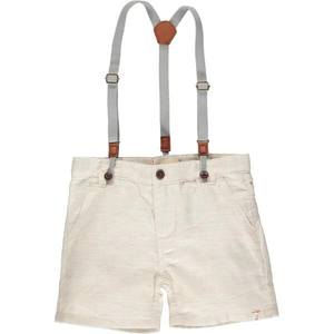 Stone shorts with removable suspenders
