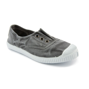 Washed Canvas Laceless Sneaker