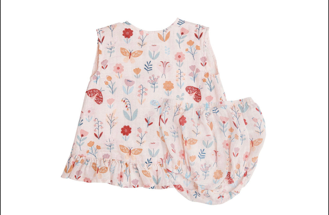 Butterfly Garden Ruffle Top & Bloomer