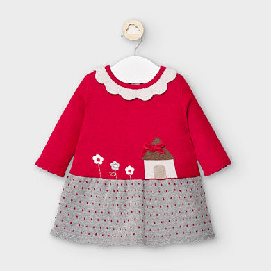 Red Knitted House Dress