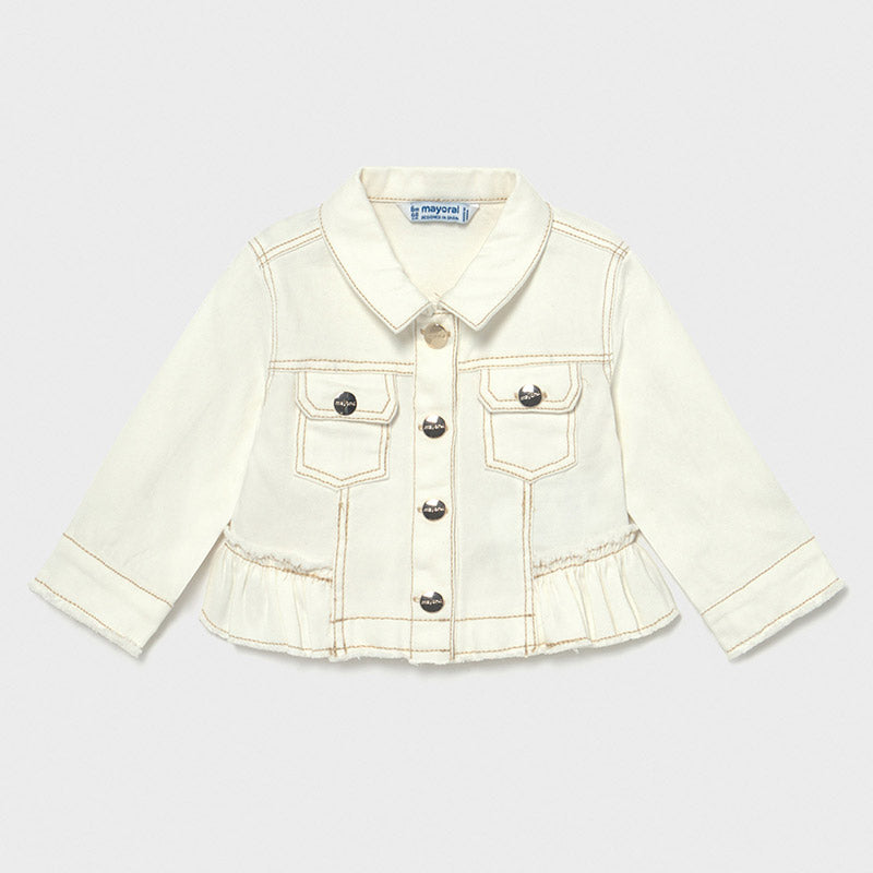 Knit Ivory Denim Jacket