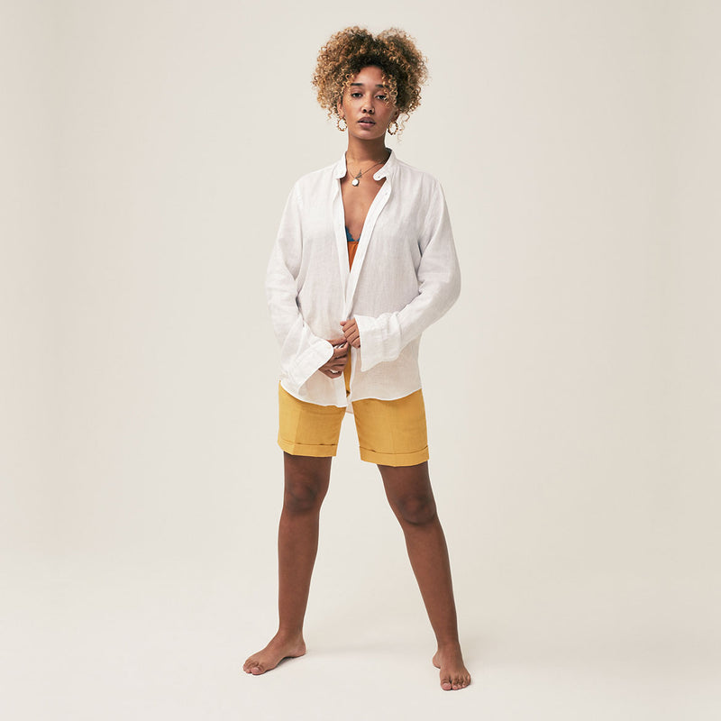 Banjul Linen Short - Georgetown Yellow