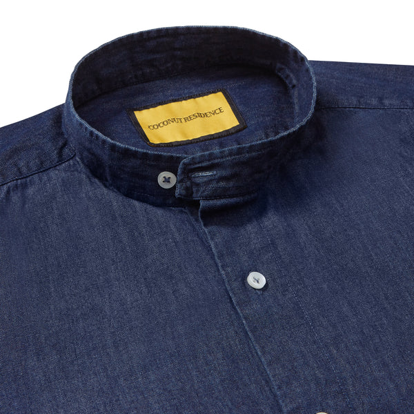 Pondicherry Indigo Denim Shirt Unisex | Coconut Residence
