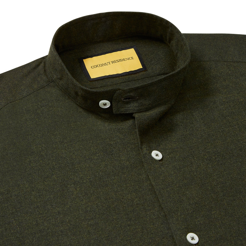 Pondicherry Flannel Shirt Ceylon Tea Green | Coconut Residence