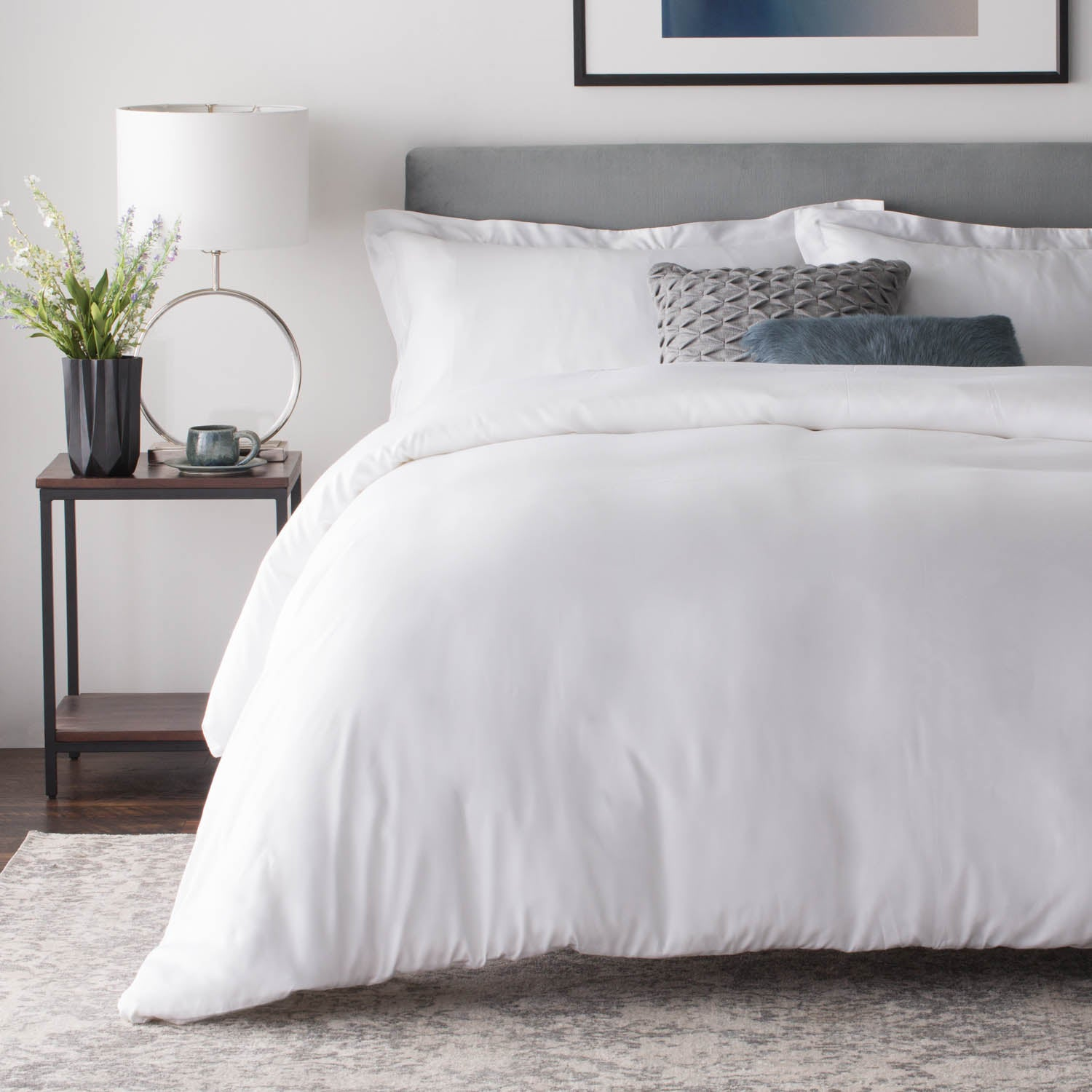 Malouf Woven Rayon From Bamboo Duvet Set