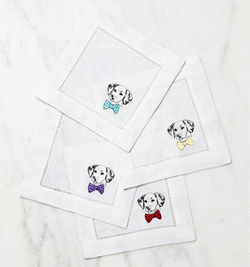 Sferra Cani Cocktail Napkin
