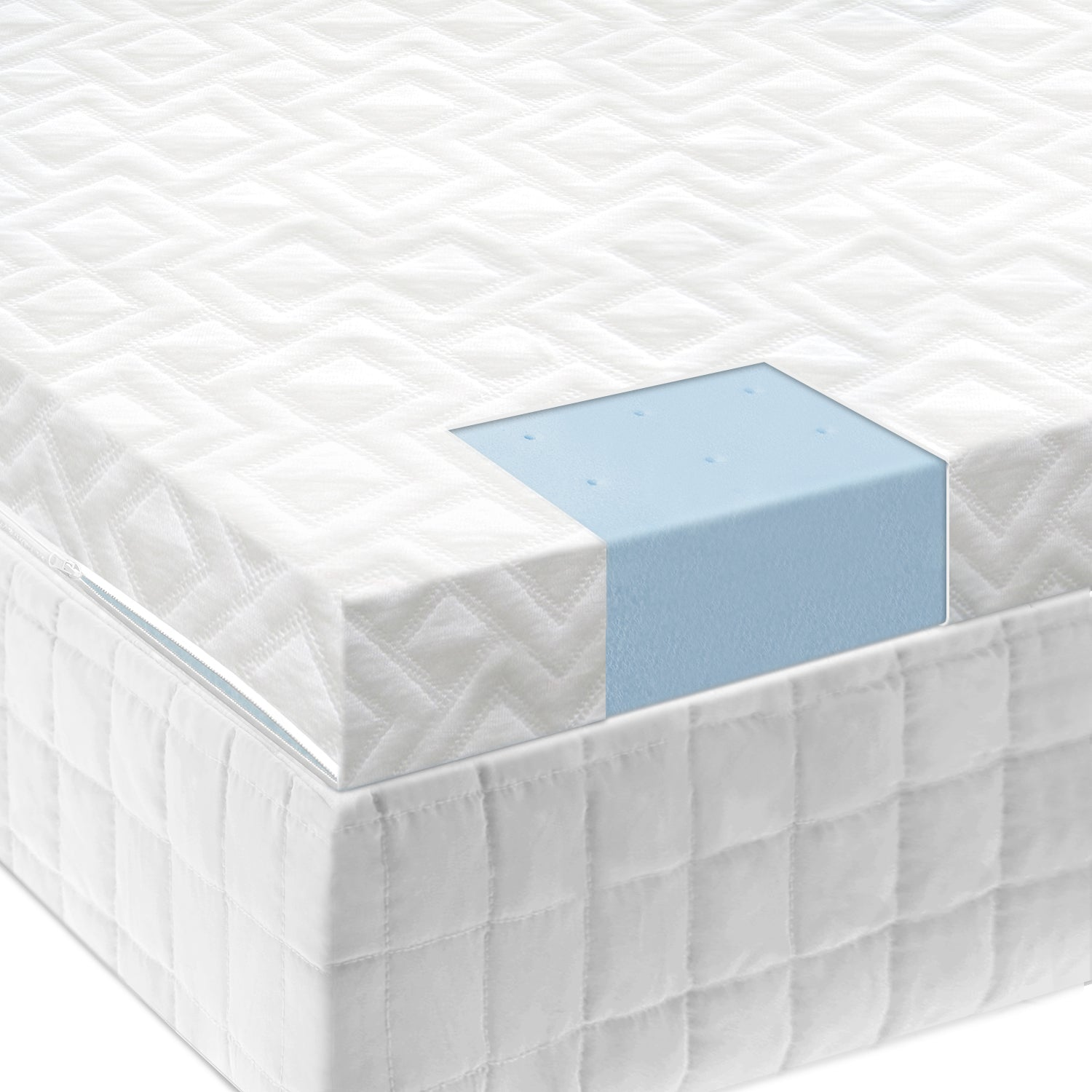 Malouf Isolus 2.5 Inch Gel Memory Foam Mattress Topper