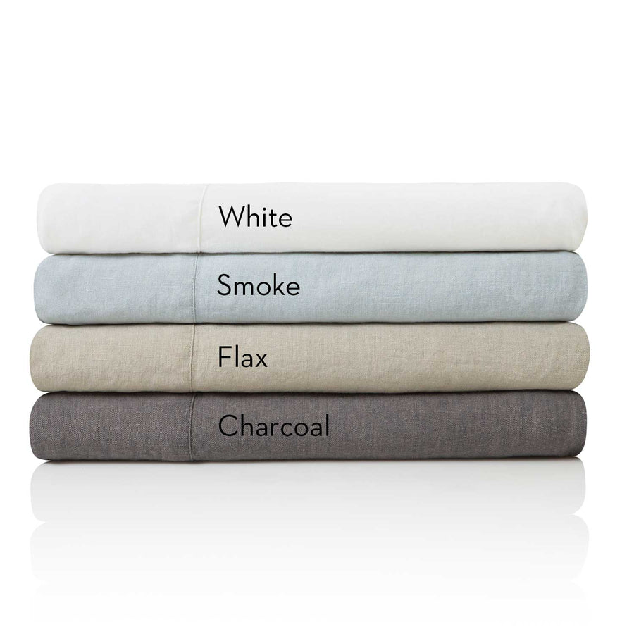 Malouf Woven French Linen Bed Sheet Set