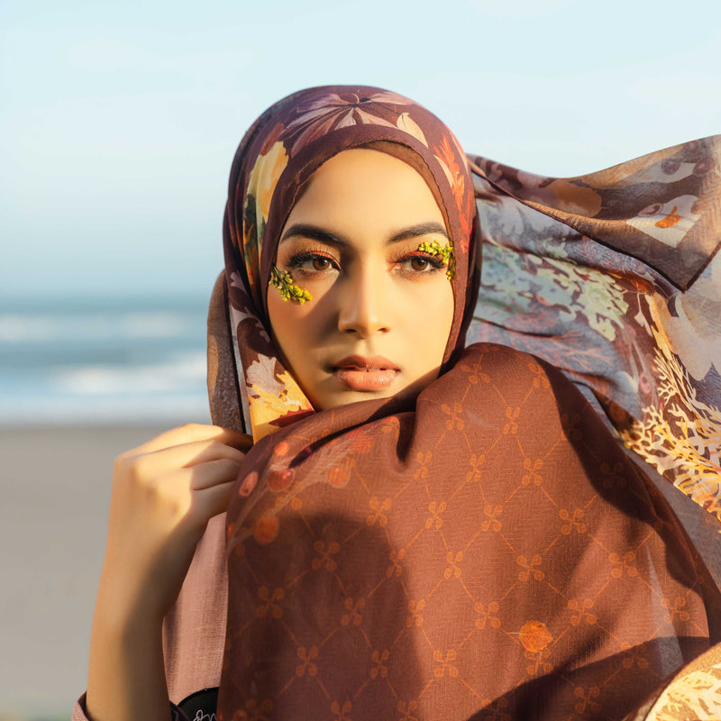 HIJAB DEENAY SIGNATURE GRACILARIA BROWN