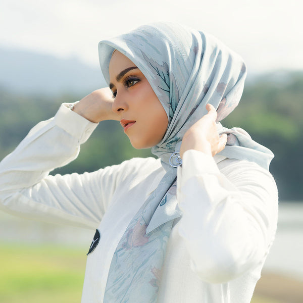 HIJAB DEENAY SIGNATURE FOLIA ICE BLUE