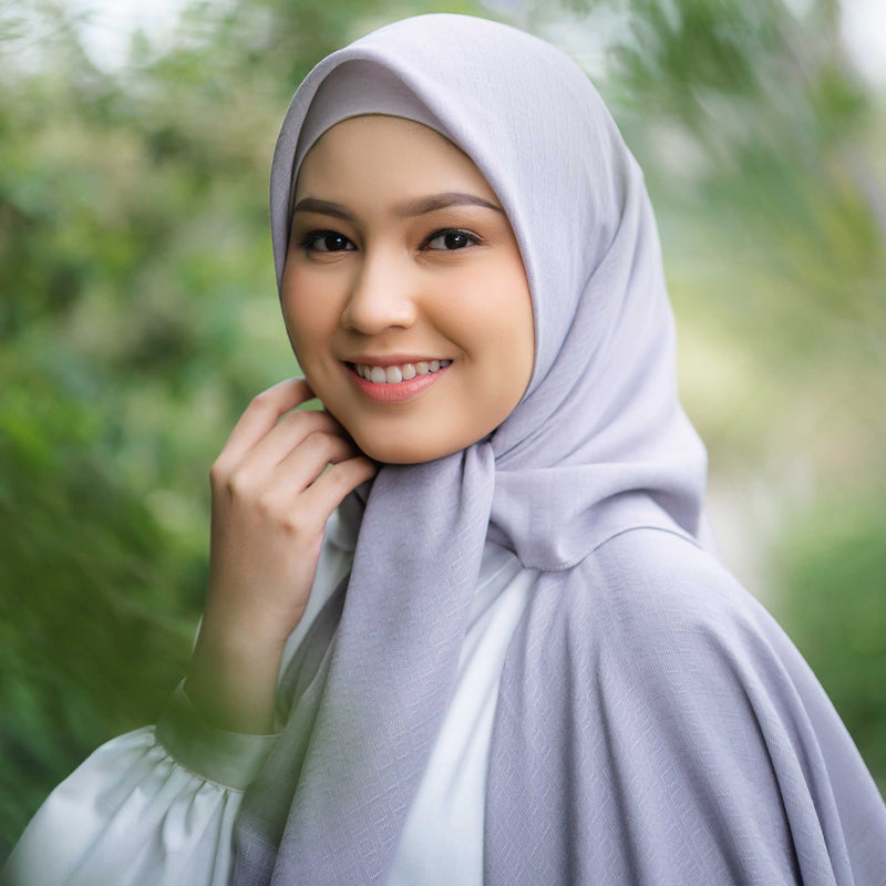 HIJAB DEENAY SIGNATURE PLAIN LIGHT GREY