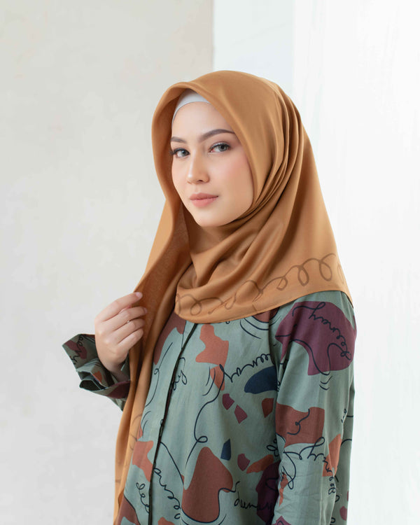 HIJAB DEENAY SPRING BROWN