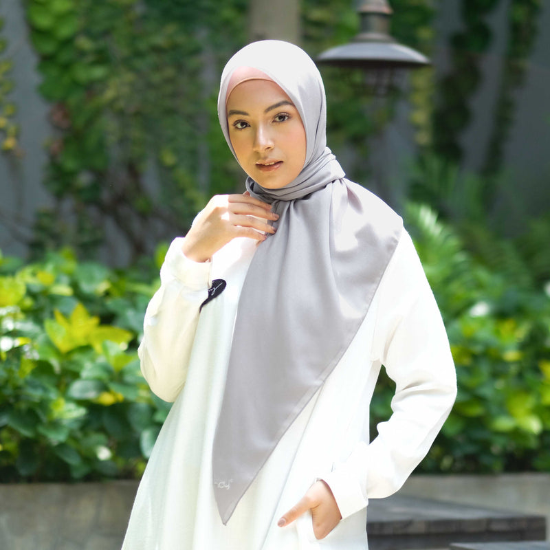 HIJAB DEENAY NAIRA PLAIN LIGHT GREY