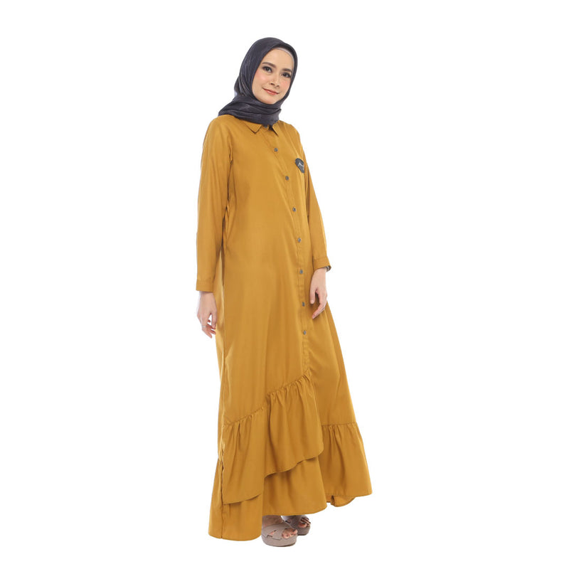 DRESS DEENAY XELA MUSTARD