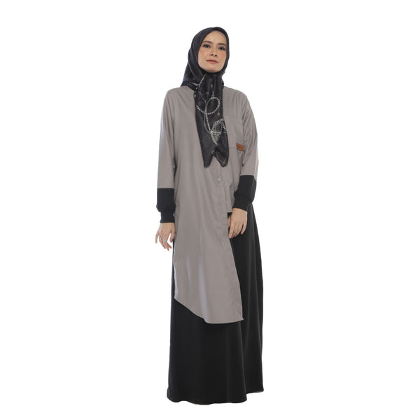 DRESS DEENAY LOVATA BLACK (GREY)
