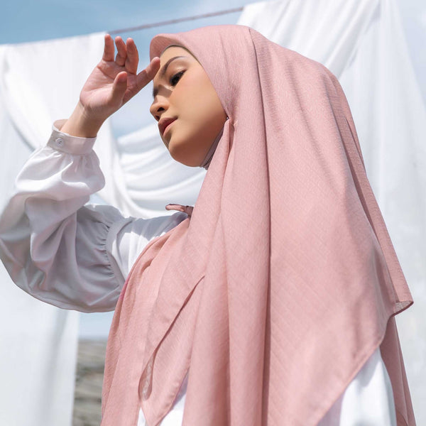HIJAB DEENAY SIGNATURE PLAIN DUSTY PINK