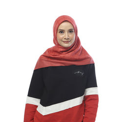 HIJAB DEENAY SILSILA INDIAN RED