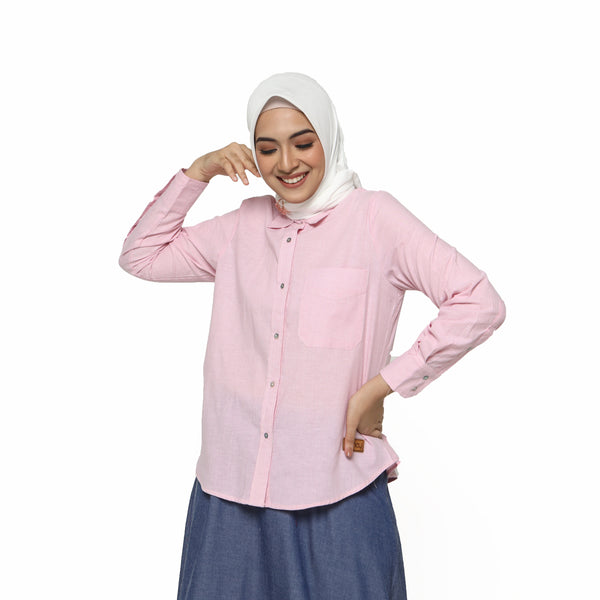 SHIRT DEENAY BASIC STRIPED PINK