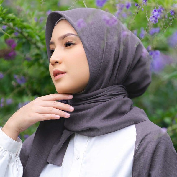 HIJAB DEENAY SIGNATURE PLAIN DARK GREY