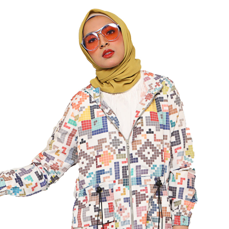 COAT DEENAY TETRIS WHITE