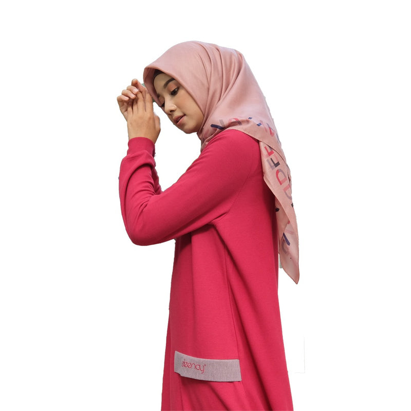 DRESS DEENAY SINDY MAROON