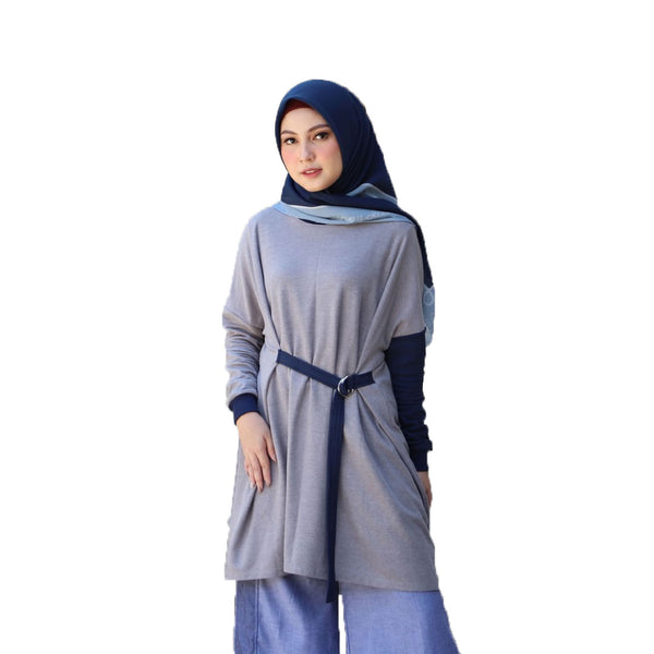 SHIRT DEENAY LOOSE GREY