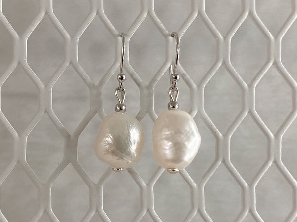 Freshwater Pearl, Silver Hardware