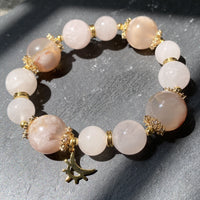 Rose Quartz, Sakura Agate