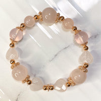 Star Rose Quartz, Rose Quartz, Rose Gold Hardware