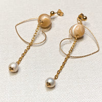 Freshwater Pearl, Brown Mother of Pearl, Gold Hardware