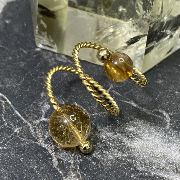 Citrine, Gold Hardware