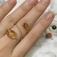 Gold Ring with Citrine