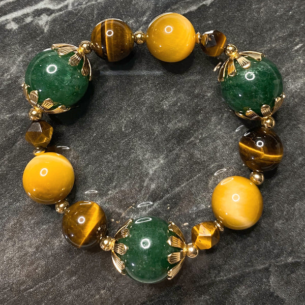 Bracelet, Yellow, Green