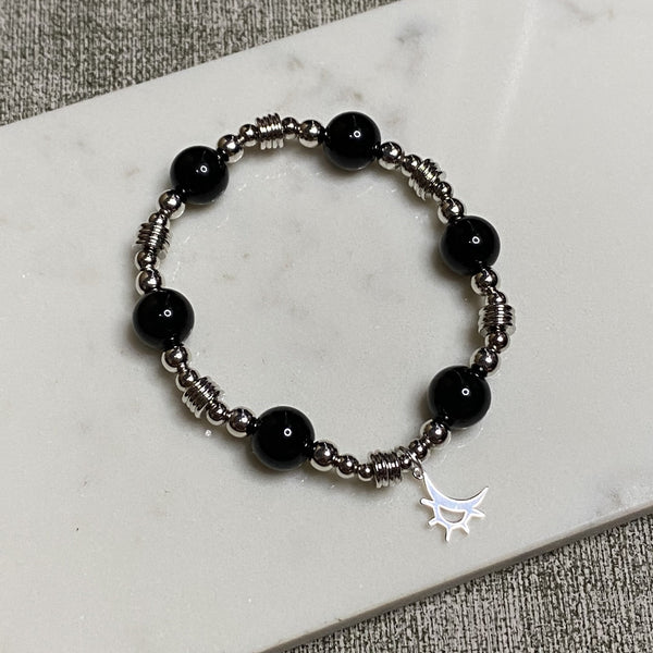 Black Tourmaline, Silver Hardware