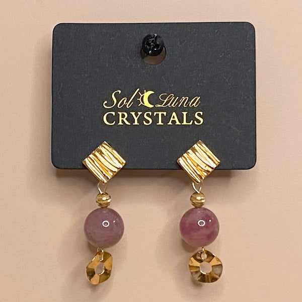 Strawberry Quartz, Gold Hardware