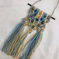 Citrine, Lapis Lazuli & Pyrite with Blue/Yellow/Grey Yarn