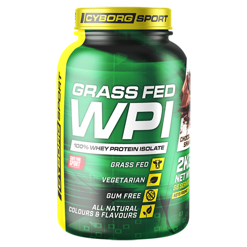 Cyborg Sport Grass Fed WPI 2kg 66 serves Choc Honeycomb