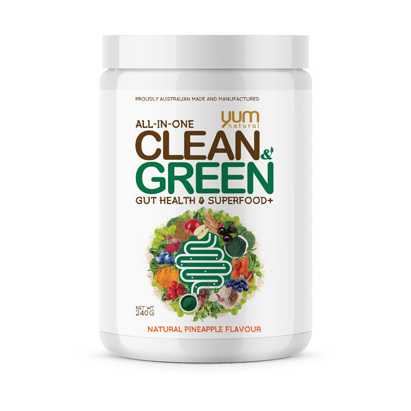 CLEAN & GREEN BY YUM NATURAL ,GUT HEALTH & SUPERFOOD- Natural Passion Fruit
