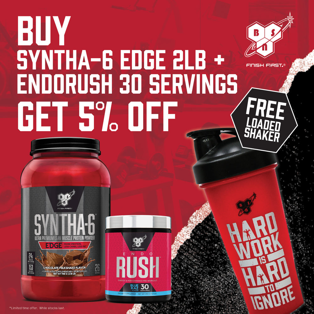 BSN Syntha-6 Edge 2LB & Endorush 30 Servings Stack