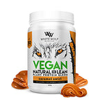 White Wolf Vegan Natural + Lean Protein Blend 900g Caramel Swirl