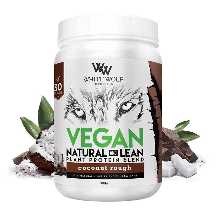 White Wolf Vegan Natural + Lean Protein Blend 900g Coconut Rough