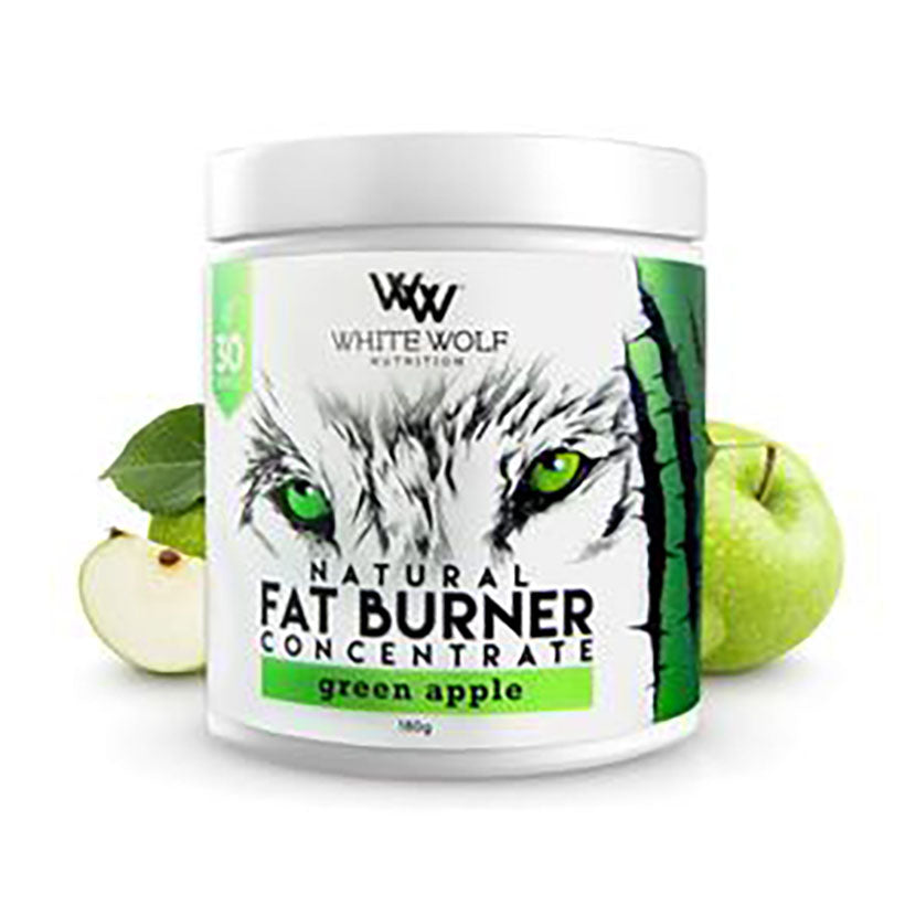 White Wolf Fat Burner Concentrate 180g 30 serve Green Apple