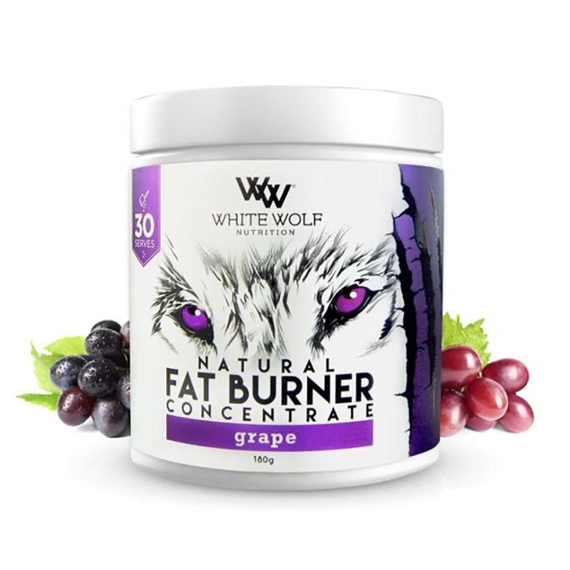 White Wolf Fat Burner Concentrate 180g 30 serve Grape