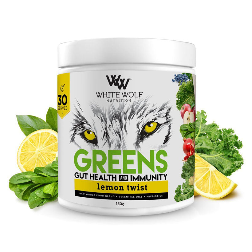 White Wolf Greens - Gut Health & Immunity Blends 150g Lemon Twist
