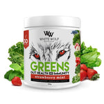 White Wolf Greens - Gut Health & Immunity Blends 150g Strawberry Mint
