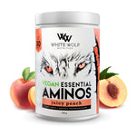 White Wolf Vegan Essential Aminos 360g 30 serve Juicy Peach