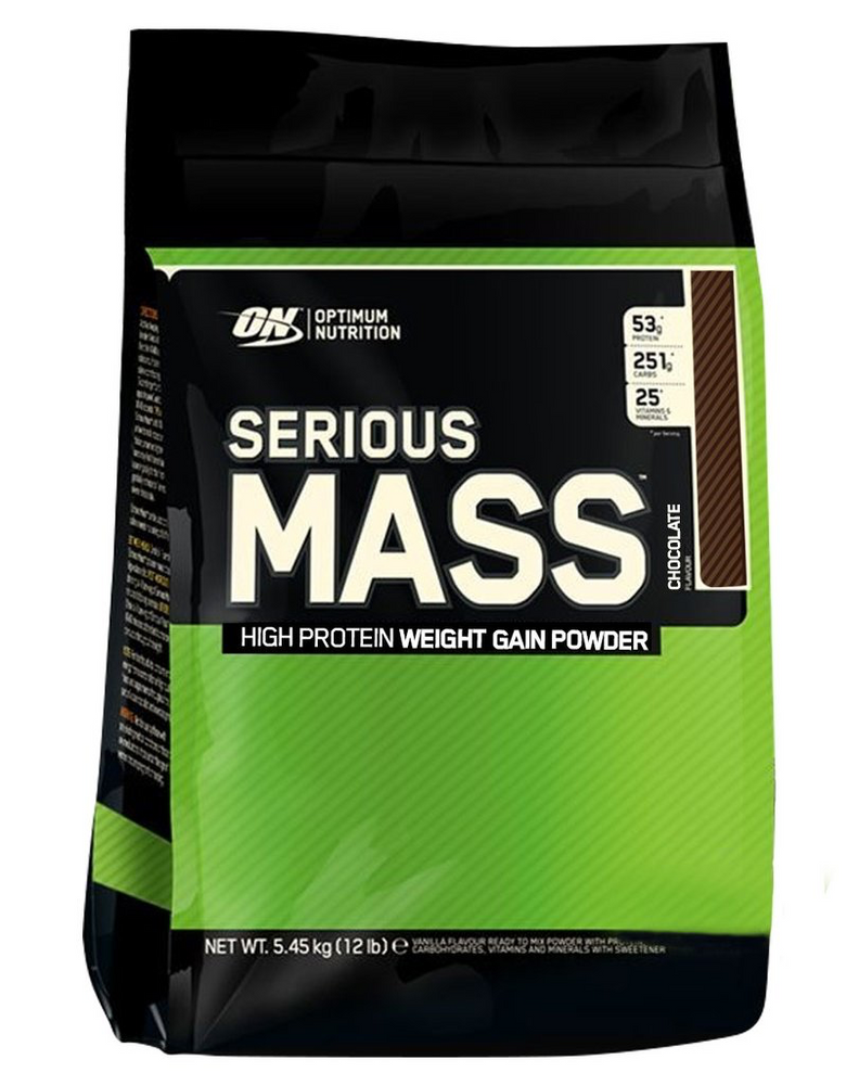 Optimum Nutrition Serious Mass Weight Gainer Chocolate 12LB