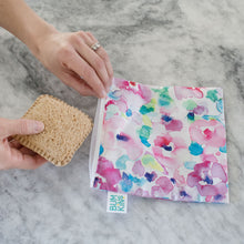 Load image into Gallery viewer, Reusable Snack Bag Large - Watercolour Flower